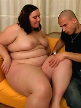 Fatty with big belly taken hard